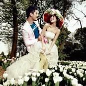 秋天的童话,韩式婚纱照的时尚便装风