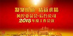 风控委员会 大后台公司2015年度工作会议